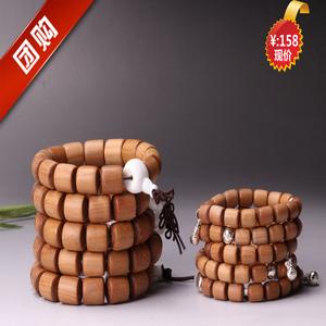 团购 印度迈索尔老山檀香红肉砗磲桶珠手串百年老料