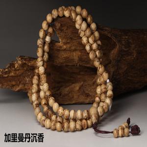 和风香堂 纯天然加里曼丹沉香念珠6mm108颗 沉香手串手链念珠