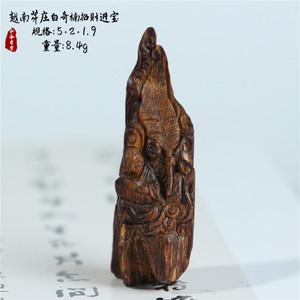 【和风香堂】越南芽庄沉水白奇楠沉香木雕挂件吊坠工艺招财进宝