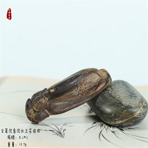 和风香堂 文莱沉香沉水挂件雕件把件【兰花】 香韵一流 天然保真