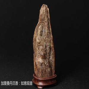 【和风香堂】印尼加里曼丹沉香摆件雕刻品文玩收藏【如意观音】